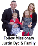 Follow Missionary Justin Dye