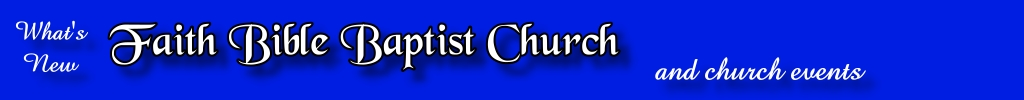 Faith Bible Baptist Church Blog